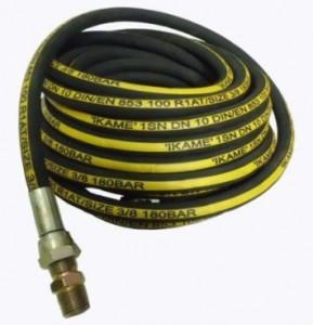 Selang High Pressure Lapis Kawat 3/8″ (panjang 8 meter)  Harga : Rp. 350.000,-